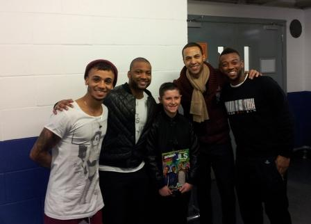 JLS chilling with Connah